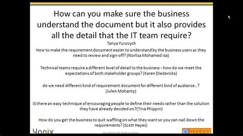 write  effective business requirements document