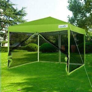 quictent  green ez pop  canopy  netting mesh sides screen house tent  ebay