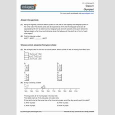 Class 4 Olympiad Printable Worksheets, Online Practice, Online Tests And Problems  Edugain India