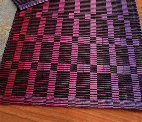 rep weave placemat pattern  pearl cotton weaving
