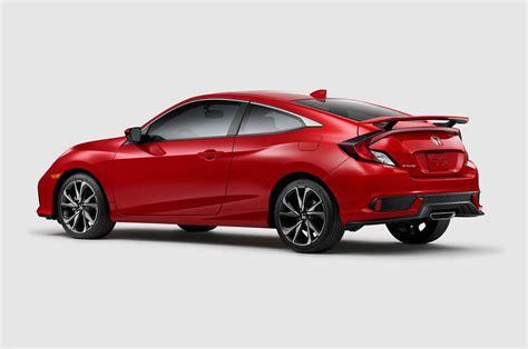 2017 honda civic sedan 2017 honda civic si coupe rear three quarter 1 motor trend