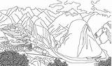 Coloring Peru Mountains Picchu Machu Andes Colouring Turisticos Drawings Adult Colorear Holiday Designlooter sketch template
