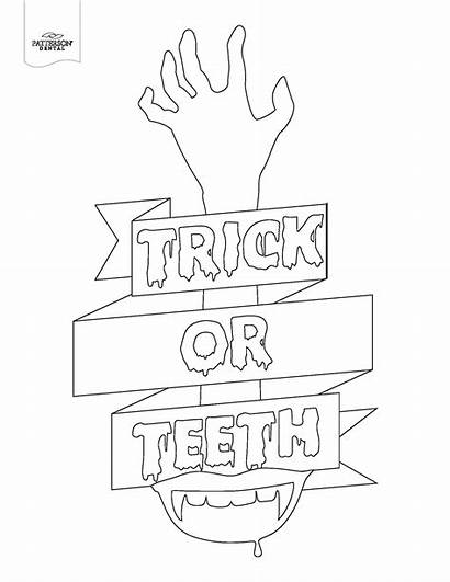 Coloring Dental Teeth Pages Colouring Pumpkin Carving