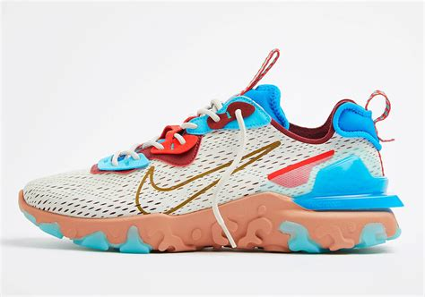 Shop from the world's largest selection and best deals for nike react trainers for men. Nike React Vision Bone Blue Red CD4373-001 Release Date ...