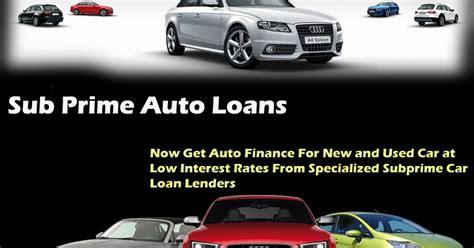 subprime auto loan    parameters