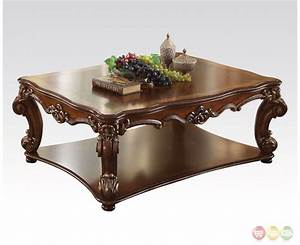 vendome traditional wood top large rectangular coffee With traditional wood coffee tables