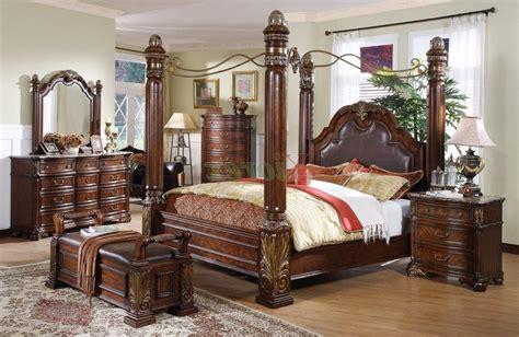 bedroom  king size canopy bed  elegant master