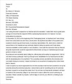 Financial Aid Appeal Letter Sample Template Financial Assistance