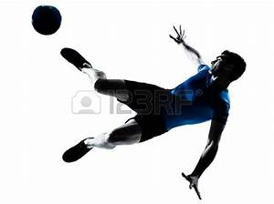 Kicking Soccer Ball Silhouette | Clipart Panda - Free ...