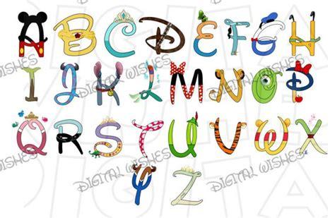 disney letter font disney character font text alphabet a z letters digital clip 28921