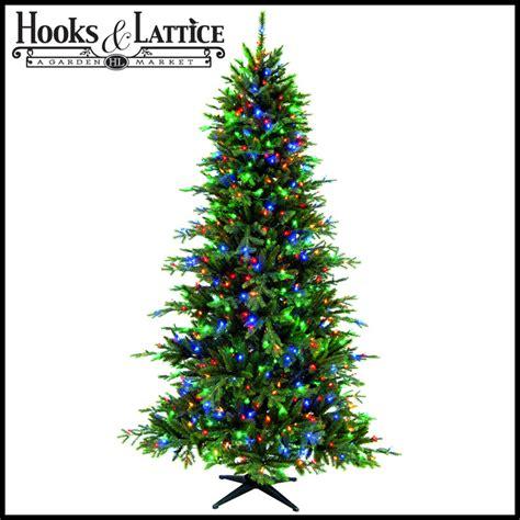 pre lit artificial trees hooksandlattice - Artificial Christmas Trees Lights