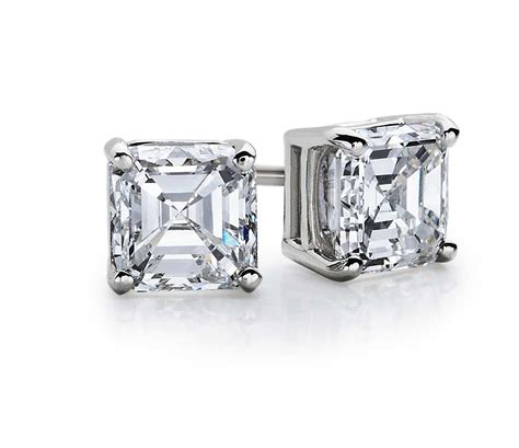 Asscher Diamond Stud Earrings In 14k White Gold (12 Ct. Sapphire Bracelet. 15 Carat Rings. Orange Bands. Diamond Wedding Ring Sets. German Watches. Alzheimer Bracelet. Bridal Set Wedding Rings. 7 Stone Anniversary Band