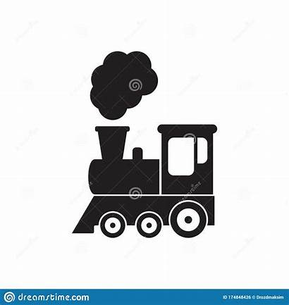 Train Symbol Icon Locomotive Silhouette Isolated