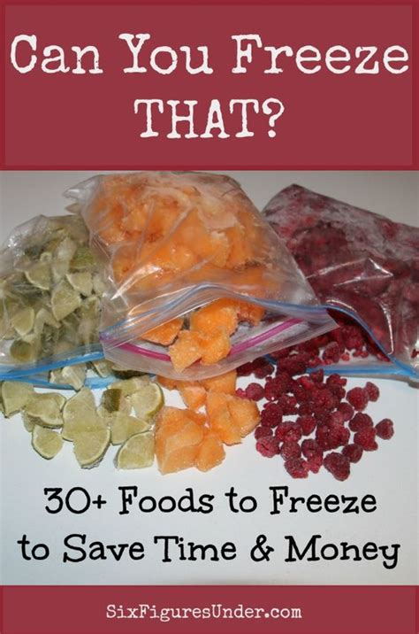 freeze freezer food recipes cooking foods healthy hacks freezing different figures six under meals dried save tips money surprised might