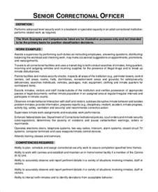 officer description for resume correctional physician sle resume