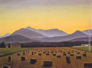 Rockwell Kent Hay Bales, Evening, Below Whiteface painting ...
