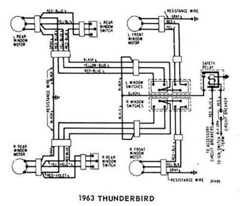 94 Thunderbird Fuse Diagram by Windows Wiring Diagram For 1963 Ford Thunderbird All