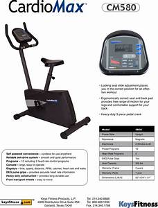 Keys Fitness Cardiomax Cm580 Users Manual Bi Cm580u Spec