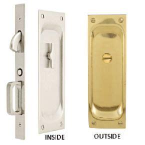 emtek pocket door hardware emtek 2105 door hardware classic privacy pocket door lock