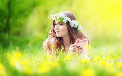 Summer Skin Care Capture Flowers Field Woman