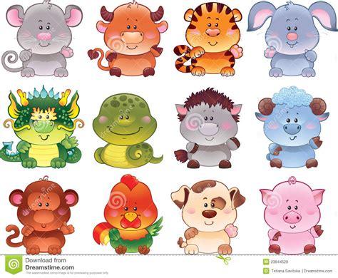 Symbole Des Chinesischen Horoskops. Vektor Abbildung - Illustration von feier, lamm: 23644529