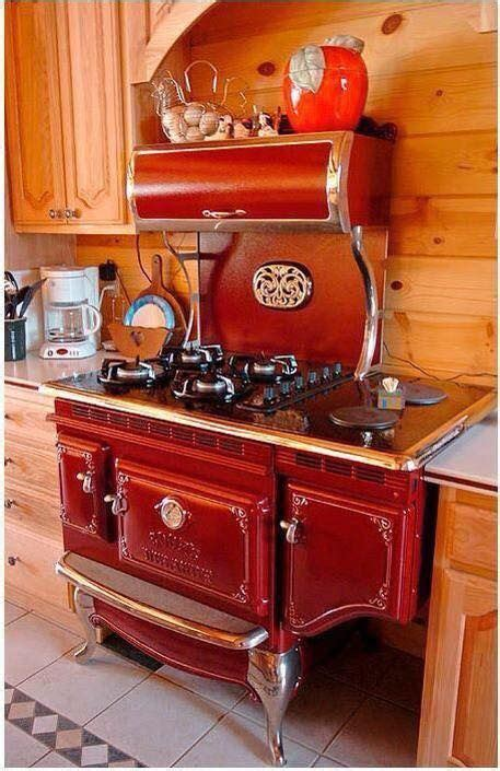 marvelous red antique reproduction elmyra stove oven