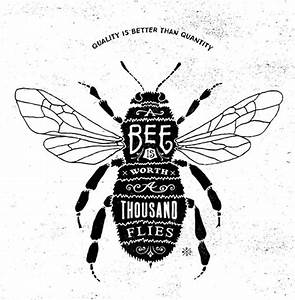 Vintage clipart honey bee - Pencil and in color vintage ...