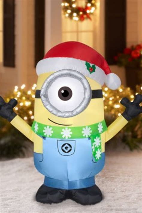 giant minions  christmas outdoor christmas decorations