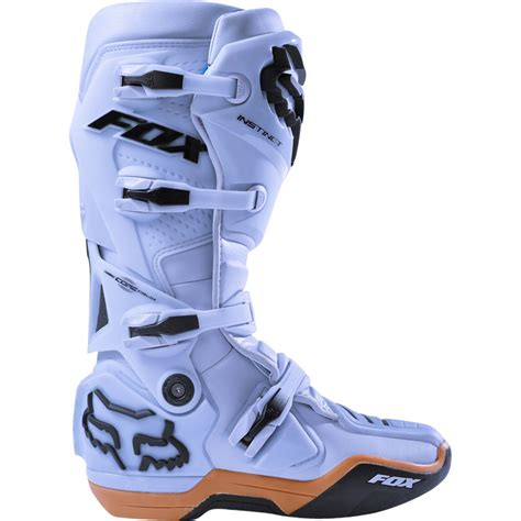 size 14 motocross boots 2018 fox racing instinct boots light grey sixstar racing
