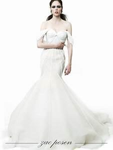 dramatic mermaid wedding dress by zac posen onewedcom With zac posen wedding dress