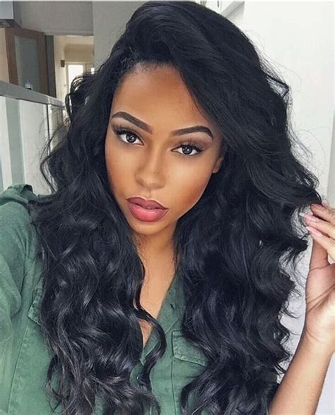 loose deep wave hairstyles with bangs hair