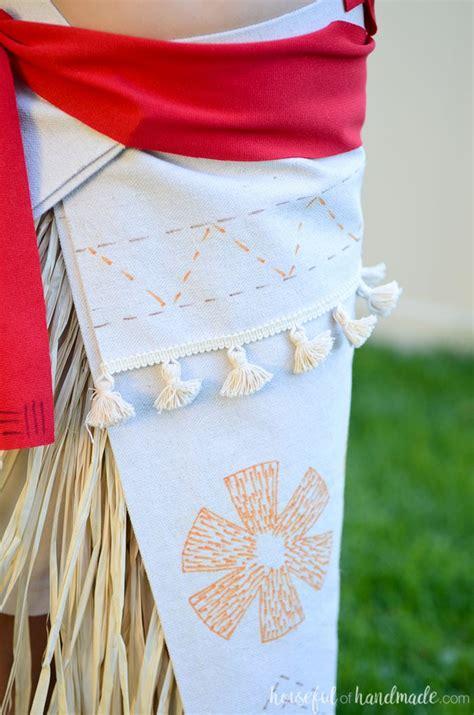 easy diy moana costume houseful  handmade