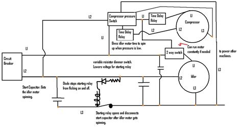 Rotary Phase Converter That Only Runs When The Compressor