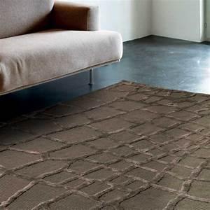 Tapis de luxe contemporain marron harmony par angelo for Tapis contemporain luxe