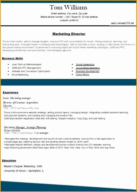 Proper Resume Template by 7 Blank Resume Template Microsoft Word Free Sles