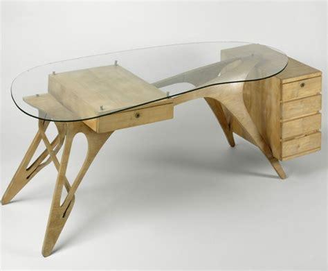 bureau bois verre meuble déco des exemples qui plaisent