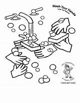 Coloring Washing Colouring Pages Hands Hand Wash Printable Bacteria Germs Germ Handwashing Hygiene Drawing Cleanliness Steps Clipart Preschool Outline Virus sketch template