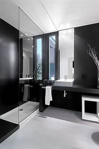 relooker une salle de bain 42 idees en photos With salle de bain grise et noire