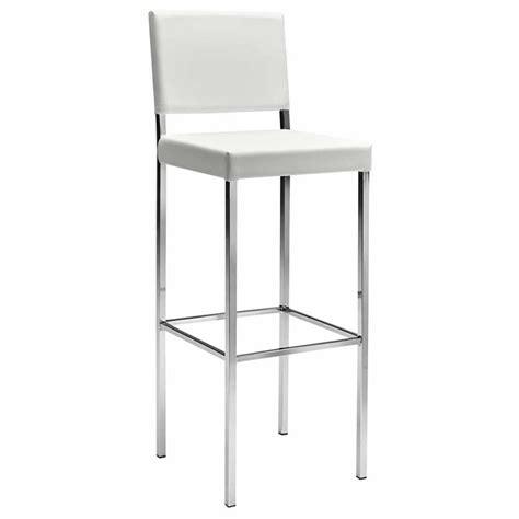 chaise de bar haute chaise haute de bar blanc ligne design mobiliers