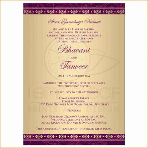Hindu Wedding Card Wordings ~ Wedding Invitation Collection