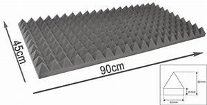 Mousse Isolation Acoustique : mousse acoustique pyramidale pro s364 md 90cm 45cm 6cm ~ Melissatoandfro.com Idées de Décoration