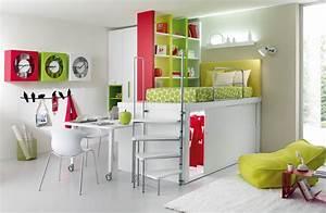 Bureau Chambre Fille : lit enfant mezzanine avec bureau ~ Teatrodelosmanantiales.com Idées de Décoration