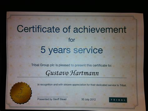 Certificate For Years Of Service Template by 6 Best Images Of Years Of Service Award Certificates