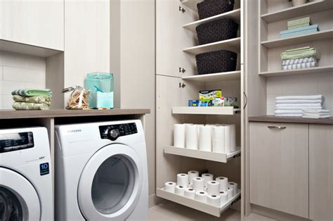 plane de travail cuisine laundry room storage contemporain buanderie toronto