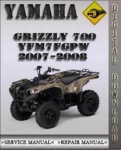 Yamaha Grizzly 700 Yfm7fgpw Service Repair Manual Download