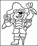 Coloring Pirate Pages Printable Popular sketch template