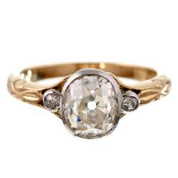 oval vintage engagement rings vintage yellow gold engagement rings and meaningful