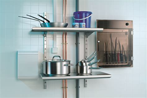 etagere murale de cuisine etagère murale modulable pour ustensiles de cuisines matfer