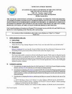 August 7, 2012 City Council Meeting Agenda Packet