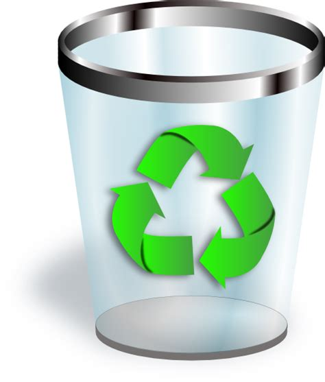 recycle bin clipart recycling bin icon clip at clker vector clip